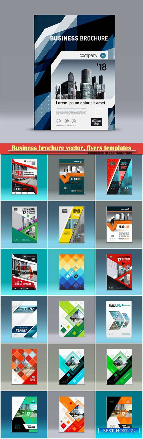 Business brochure vector, flyers templates # 42