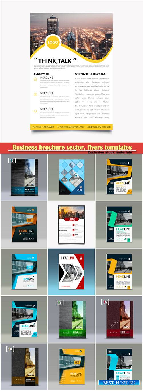 Business brochure vector, flyers templates # 44