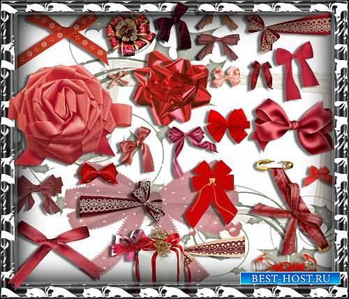 Красивые Png - Красные банты простые и подарочные