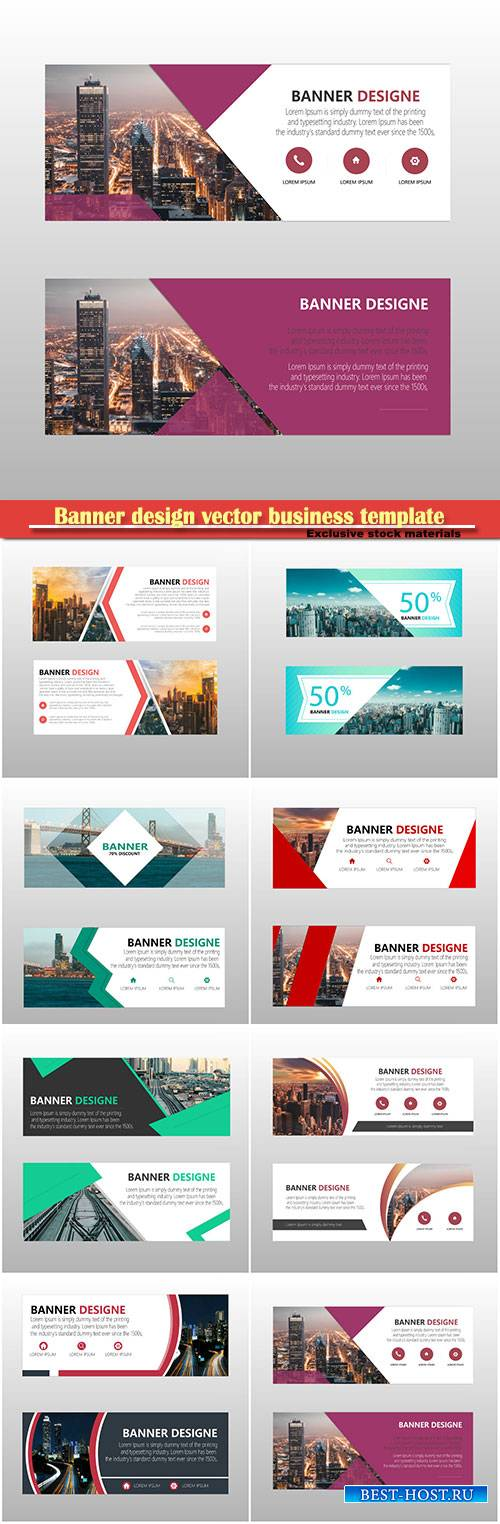 Banner design vector business template