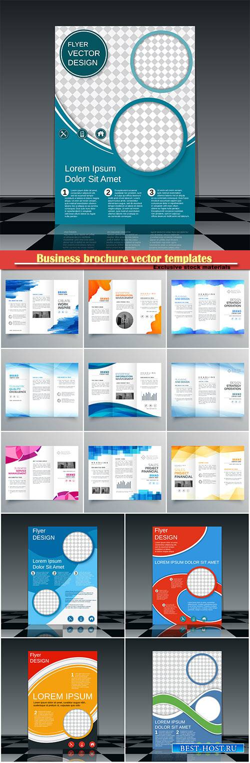 Business brochure vector templates, magazine cover, business mockup, educat ...