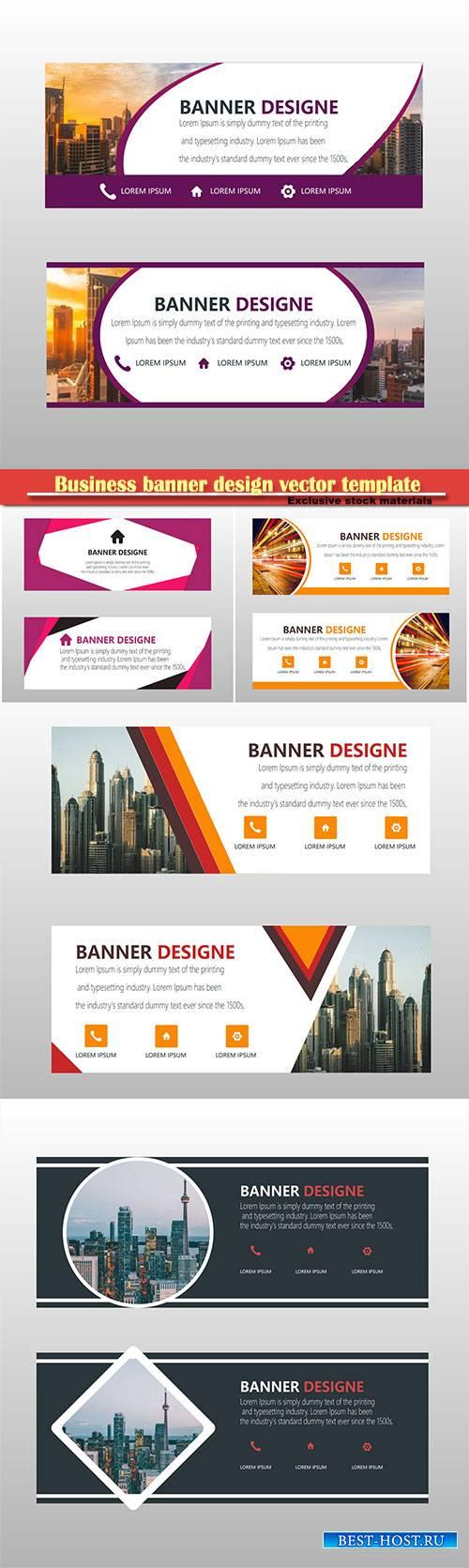 Business banner design vector template