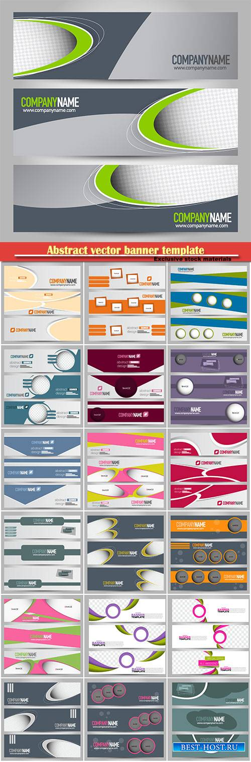 Abstract vector banner template, background for design,  business, educatio ...