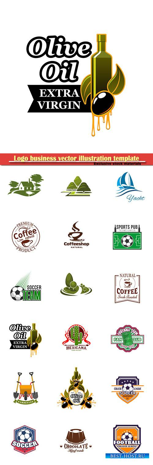 Logo business vector illustration template # 75