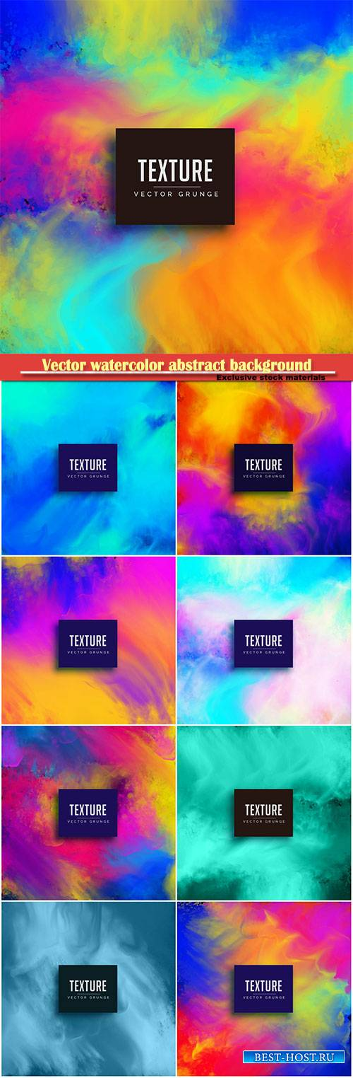 Vector flowing watercolor texture abstract background