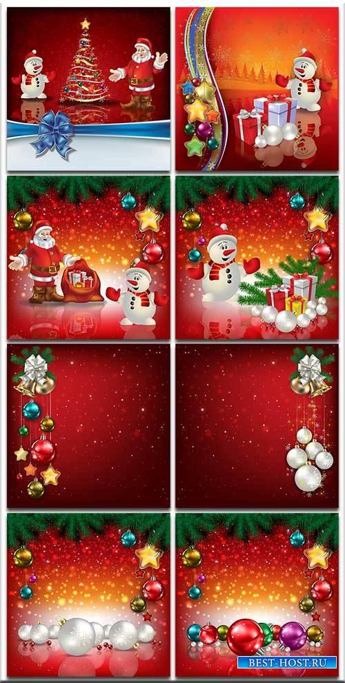 Новогодние фоны-Новогодние композиции.2 часть/Christmas backgrounds-Christm ...