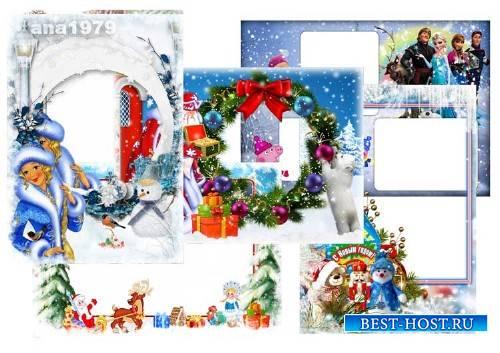 Сборник рамок для фотошопа – В новогодней сказке