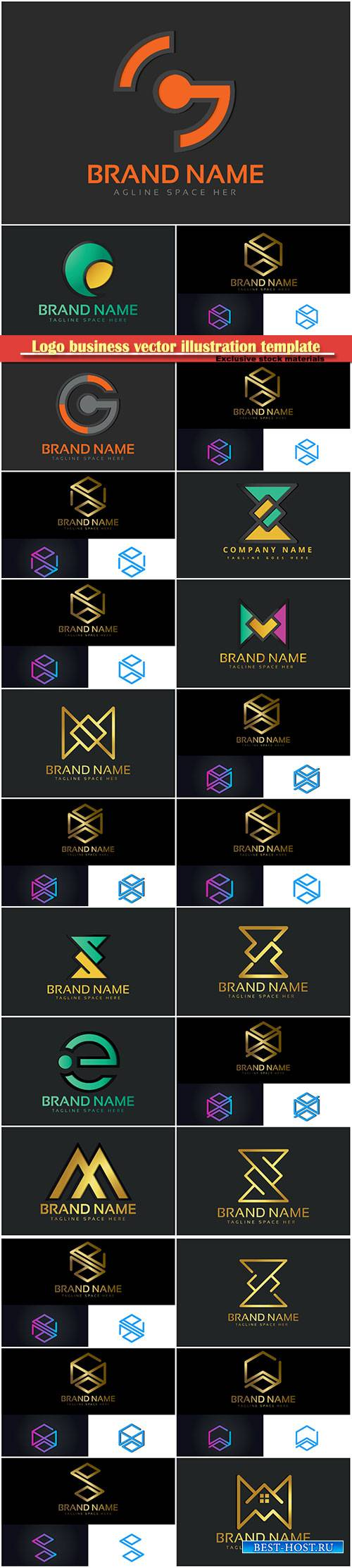 Logo business vector illustration template # 77