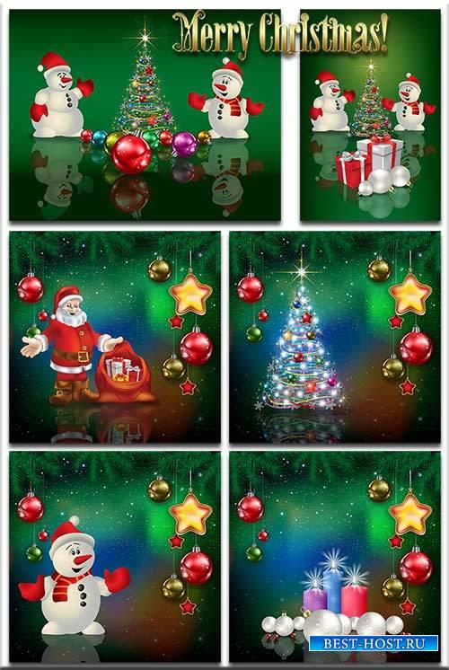 Новогодние фоны-Новогодние композиции.5 часть/Christmas backgrounds-Christm ...
