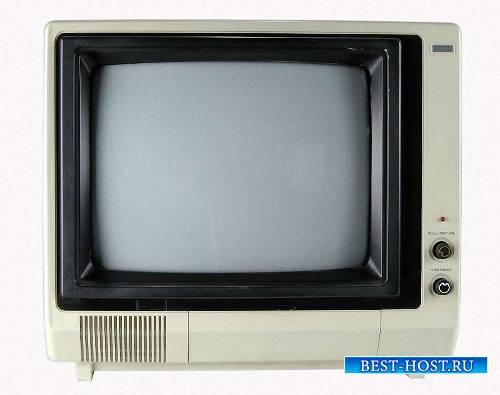 Необходимый набор клипартов на прозрачном фоне - Старые телевизоры