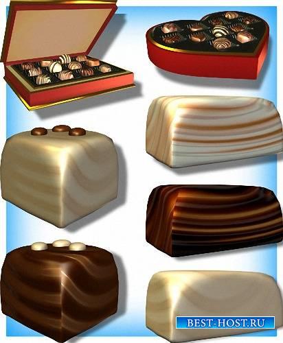 Png для фотошоп - Шоколадные конфеты