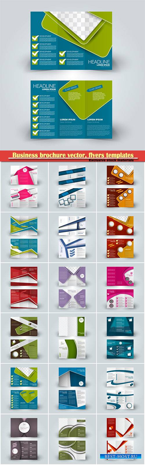 Business brochure vector, flyers templates, report cover design # 99