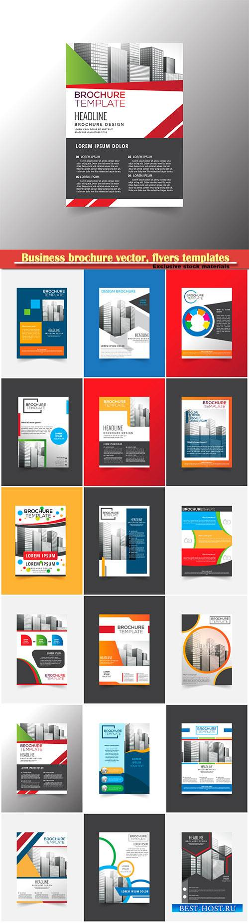 Business brochure vector, flyers templates, report cover design # 97