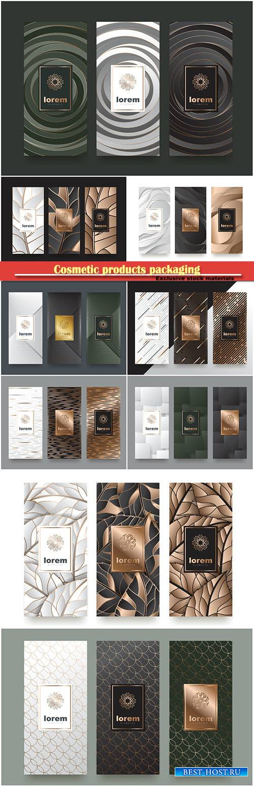 Stylish templates for cosmetic products packaging