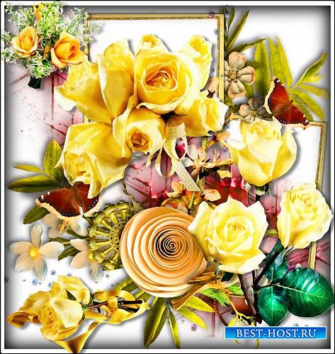 Png картинки - Желтого цвета розы