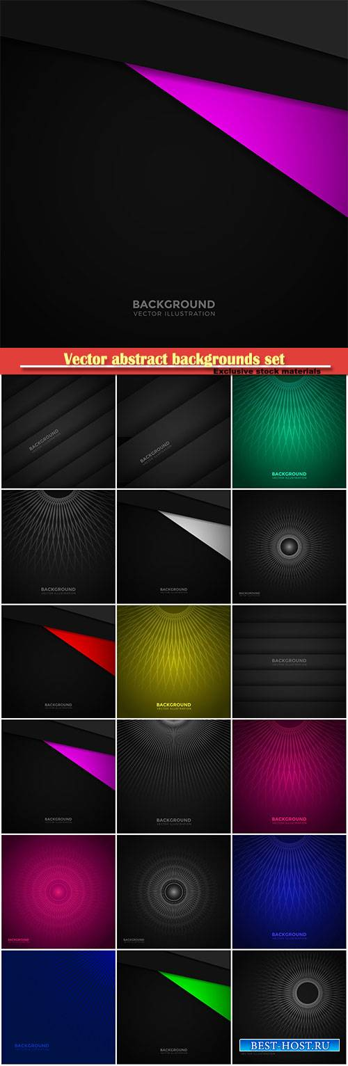 Vector abstract backgrounds set