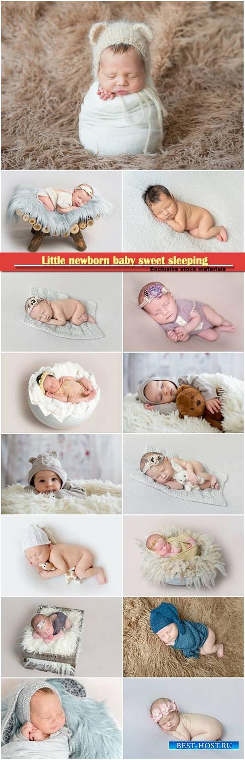 Little newborn baby sweet sleeping
