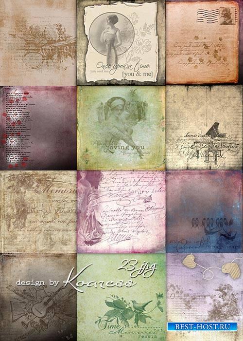 Винтажные фоны с надписями для дизайна - Старые письма