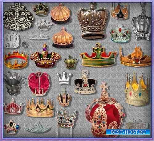 Растровые клипарты - Короны и диодемы
