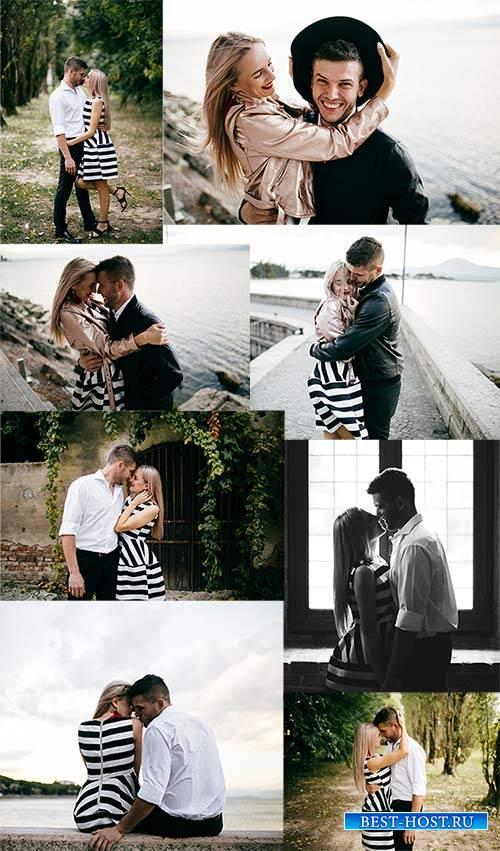 Счастливая пара - Растровый клипарт / Happy couple - Raster clipart