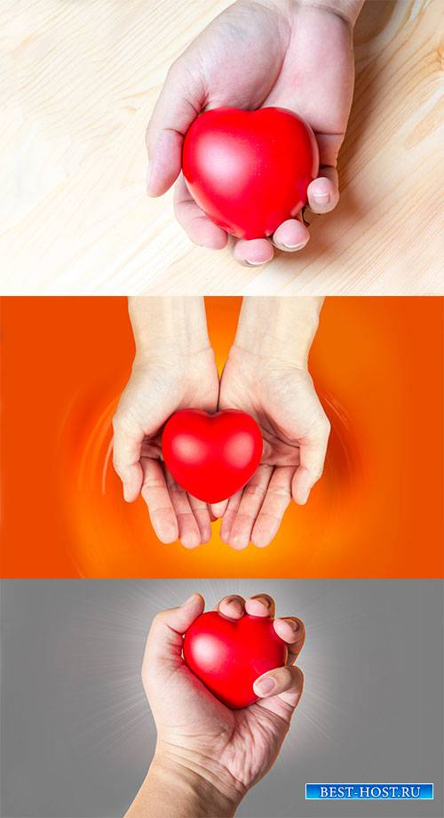 Клипарт - Седце в руке / Clipart - Heart in hand