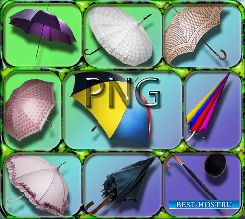Коллекция Png клипартов - Зонты различных моделей