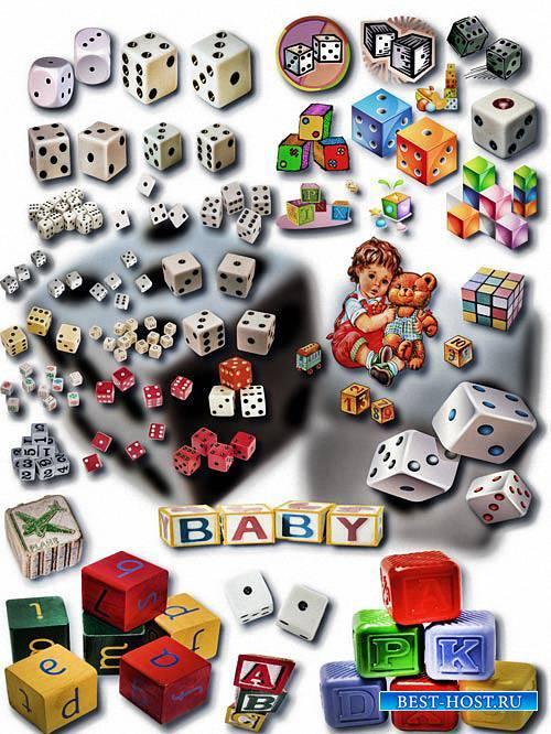 Новые клипарты Png - Детские кубики и кости