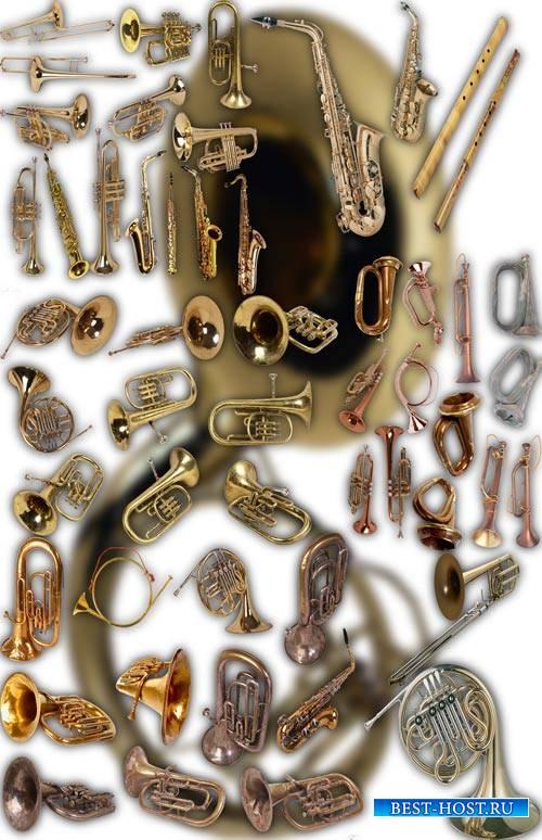 Клипарты на прозрачном фоне - Духовые инструменты