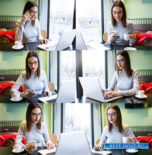 Клипарт - Деловая молодая женщина / Clipart - Business young woman