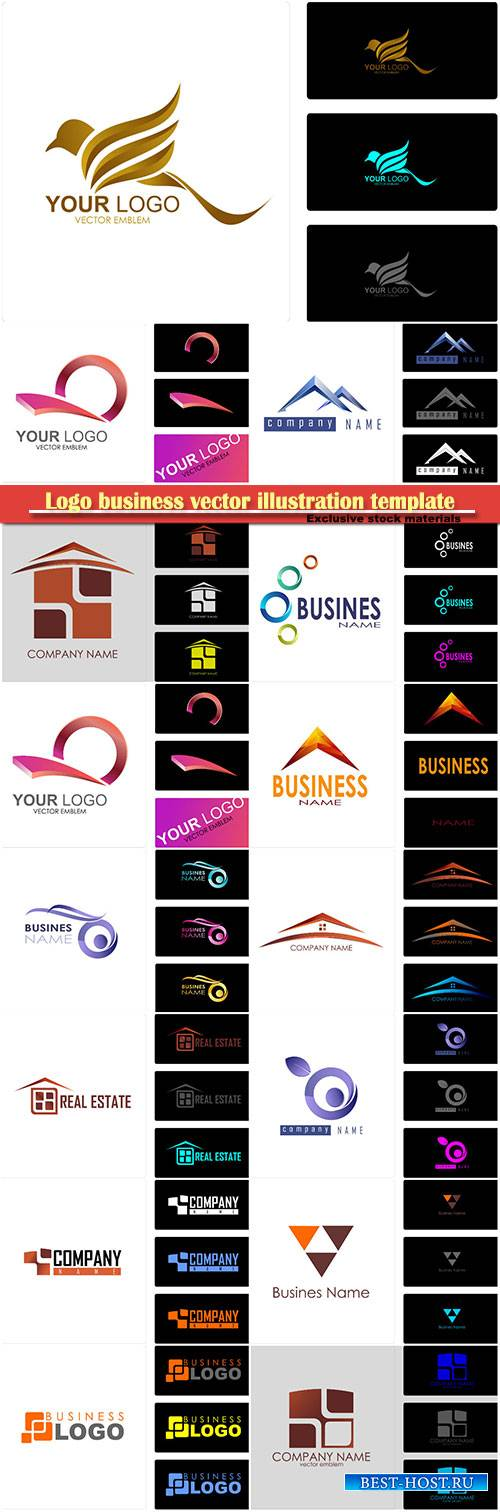 Logo business vector illustration template # 81