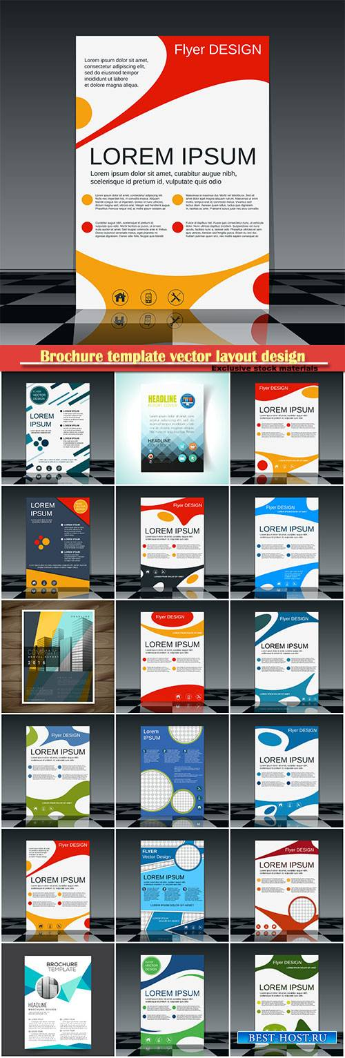 Brochure template vector layout design, corporate business annual report, m ...