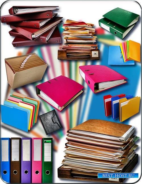 Новые клипарты Png - Разноцветные папки