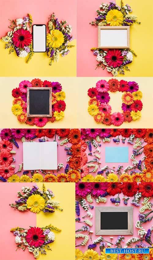 Весенние фоны с цветами / Spring background with flowers
