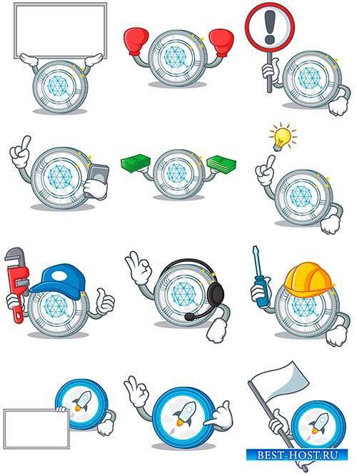 Сoin character cartoon - Vector