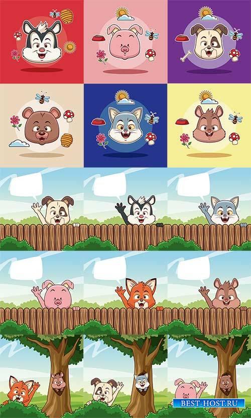 Животные - Вектор / Animals cartoons - Vector