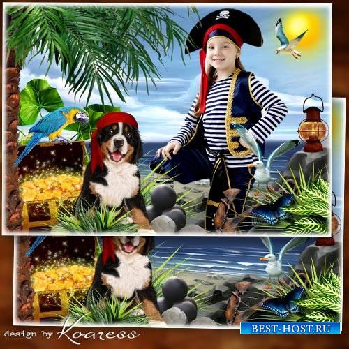 Детская рамка для фото - Жизнь пиратов