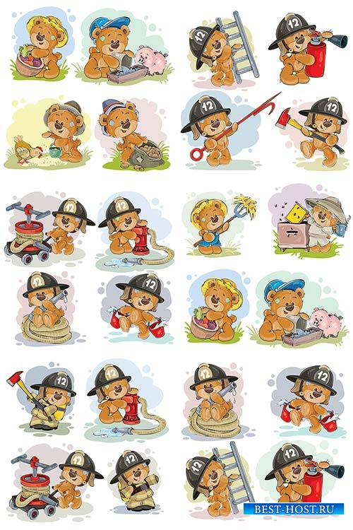 Мишки Тедди - Вектор / Teddy bears - Vector