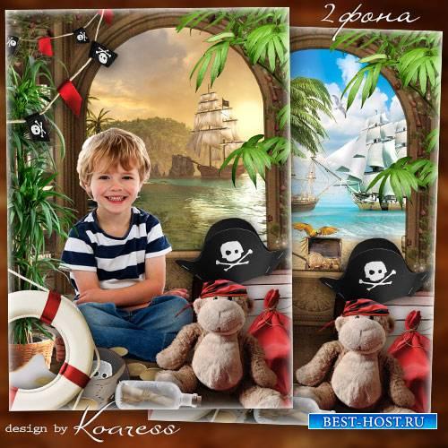 Рамка для фото - В пиратской хижине