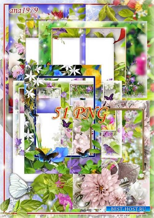 Сборник цветочных рамок в png - Цветочная сказка