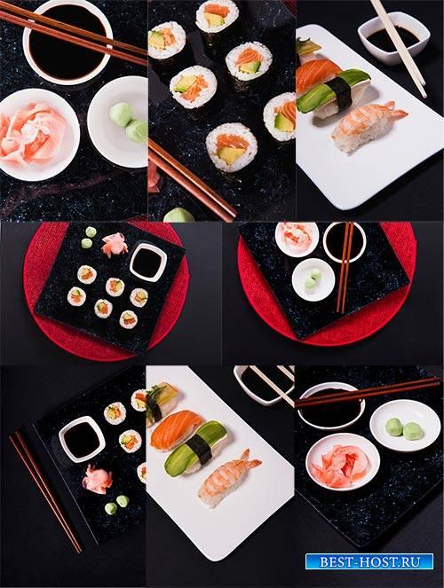Суши - Растровый клипарт / Sushi - Raster clipart