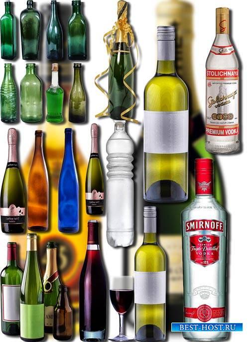 Клип-арты png без фона - Бутылки из стекла