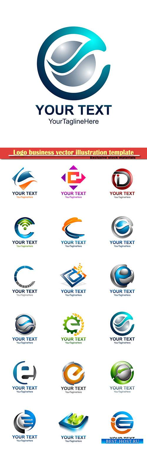 Logo business vector illustration template # 89