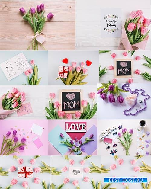 Фоны с тюльпанами для поздравлений / Backgrounds with tulips for congratula ...