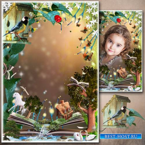Рамка для фото - Заколдованный лес