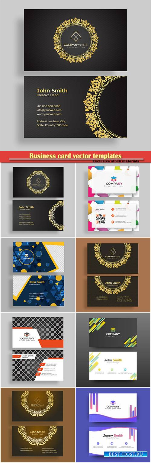 Business card vector templates # 36