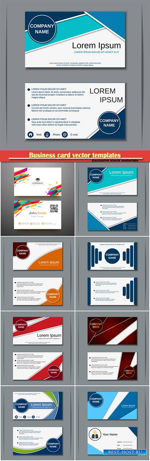 Business card vector templates # 35
