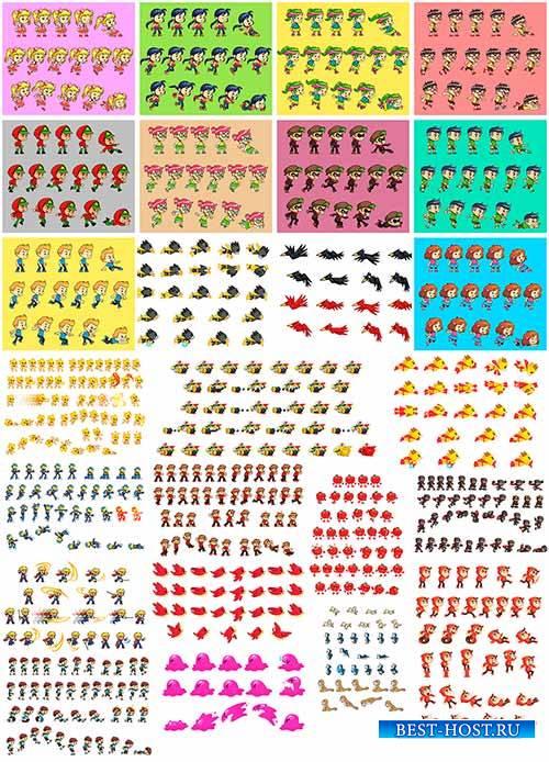 Персонажи для игр в векторе / Characters for games in vector