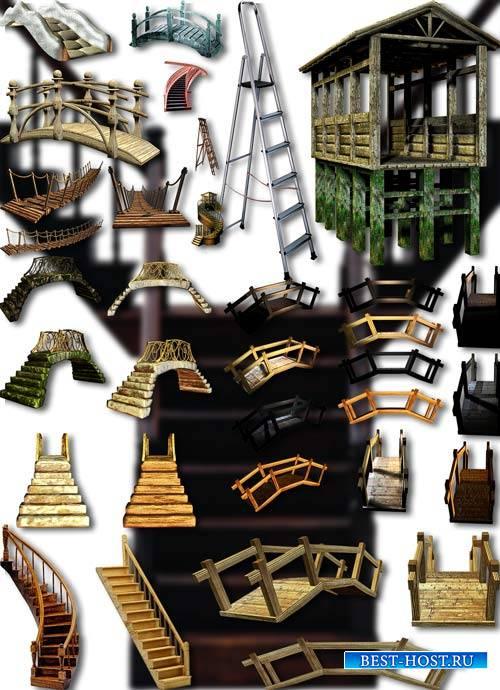 Фотошоп Png клипарты - Лестницы и мосты