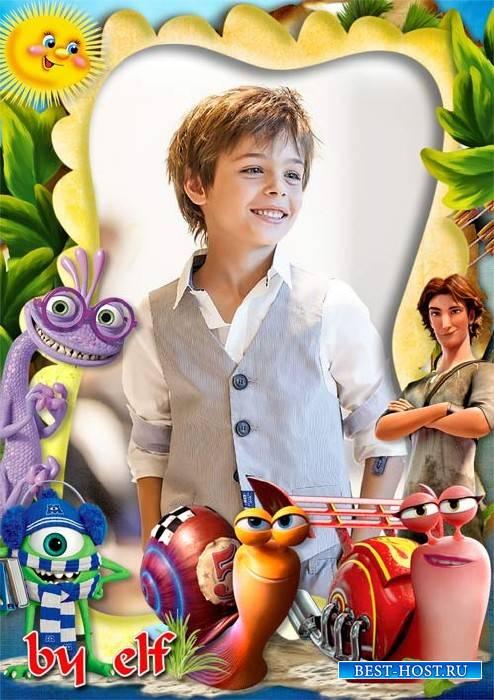 Детская фоторамка с героями мультфильмов