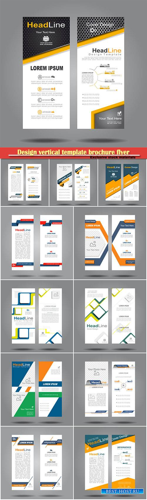 Design vertical template brochure flyer vector banner